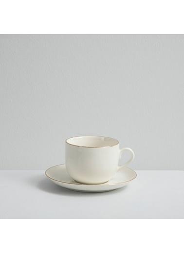 Chakra Carıne Gold  6 Kişilik Çay Takımı Beyaz